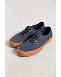 426ec55aeb230c Vans Authentic Gum Sole Sneaker in Blue for Men - Lyst