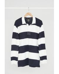 Urban Outfitters - Blue Vintage '90s White + Navy Stripe Rugby Dress - Lyst