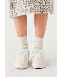 Vans - White Vans Faux Sherpa Old Skool Sneaker - Lyst