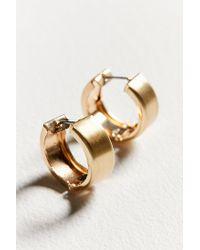 Urban Outfitters - Metallic Gia Huggie Hoop Earring - Lyst