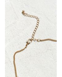 Urban Outfitters - Metallic Double Dog Tag Necklace - Lyst