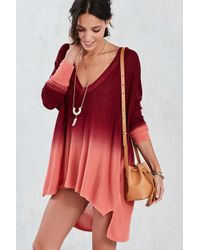 Pins And Needles | Red Dip-dye Tunic Top | Lyst