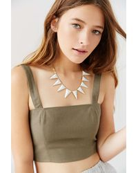 Luv Aj - Metallic Marble Triangle Necklace - Lyst