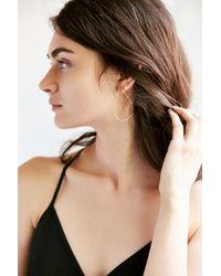 Urban Outfitters - Metallic 18k + Sterling Silver Delicate Geo Hoop Earring - Lyst