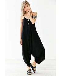 Silence + Noise | Black Oversized Jumpsuit | Lyst