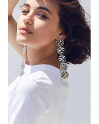 Urban Outfitters - Metallic Ari Hammered Disc Drop Earring - Lyst