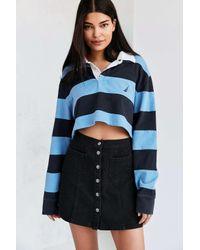Bdg Denim Seamed Button-down Skirt in Black | Lyst