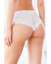 Out From Under - White Elizabeth Lace Mix Hipster - Lyst