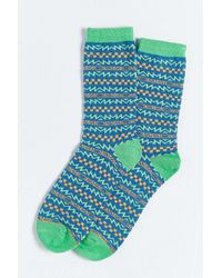 Urban Outfitters | Blue Skate Pattern Sock for Men | Lyst