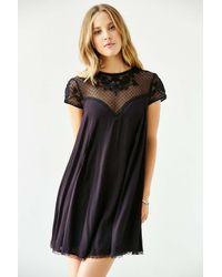 Kimchi Blue | Black Lily Embellished Trapeze Dress | Lyst