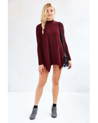 Silence + Noise - Red Allison Mock-neck Top - Lyst
