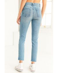 BDG | Blue Girlfriend High-rise Jean - Light Wash | Lyst