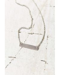 Urban Outfitters - Metallic Silver Initial Bar Necklace - Lyst