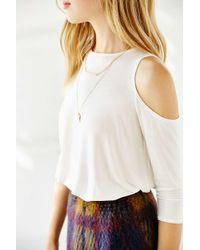 Kimchi Blue - White Tyra Cold Shoulder Tunic Top - Lyst