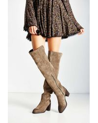 Jeffrey Campbell | Brown Raylan Over The Knee Boot | Lyst