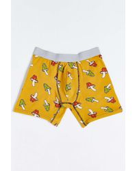 Urban Outfitters   Yellow Uo Mushroom Print Boxer Brief for Men   Lyst