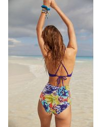 Out From Under - Multicolor Printed Flat High-waisted Bikini Bottom - Lyst