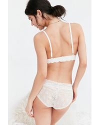 Out From Under | White Ayden Scallop Triangle Bra | Lyst
