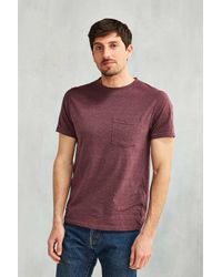 Urban Outfitters | Red Uo Galaxy Pocket Tee for Men | Lyst