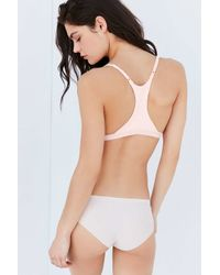 Out From Under | White Ribbed Triangle Bra | Lyst