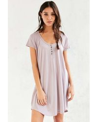 1f7050064bfa Lyst - Truly Madly Deeply Henley T-shirt Dress in Pink