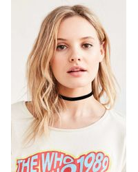Urban Outfitters   Black Claire Velvet Choker Necklace   Lyst