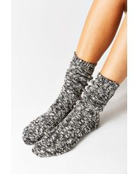 Urban Outfitters | Black Marled Boot Sock | Lyst