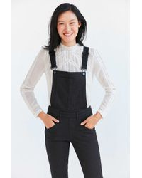 Cheap Monday - Black Skinny Dungaree Overall - Lyst