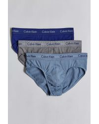 Calvin Klein - Blue Floral Wovencotton Boxers for Men - Lyst
