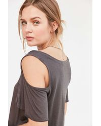 Project Social T - Black Liza Cold Shoulder Tee - Lyst