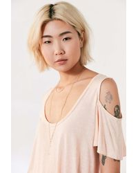 Project Social T - Multicolor Liza Cold Shoulder Tee - Lyst