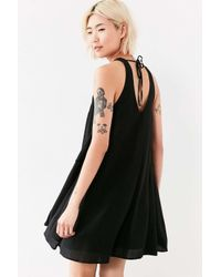 Silence + Noise | Black Angel Tulip-hem Swing Dress | Lyst
