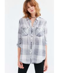 BDG | Natural Nelly Plaid Button-down Shirt | Lyst
