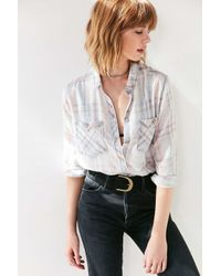 BDG | Gray Nelly Plaid Button-down Shirt | Lyst