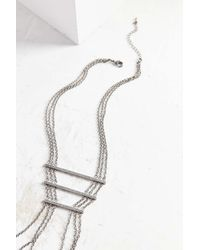 Urban Outfitters | Metallic Eva Bar + Chain Statement Necklace | Lyst