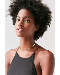 Urban Outfitters | Metallic Harlow Pendant Choker Necklace | Lyst