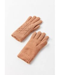 Urban Outfitters - Multicolor Cable Knit Chenille-lined Glove - Lyst