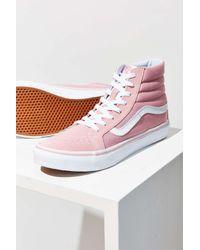 859f8d43b4575e Lyst - Vans Pink Sk8-hi Slim Sneaker in Pink