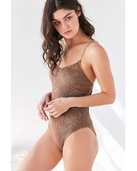 Out From Under | Multicolor Seamless Ribbed Bodysuit | Lyst