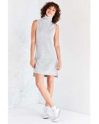 BDG | Gray Turtleneck Mini Sweater Dress | Lyst