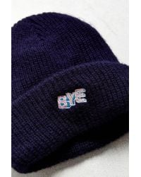 Urban Outfitters - Blue Hi / Bye Icon Beanie for Men - Lyst