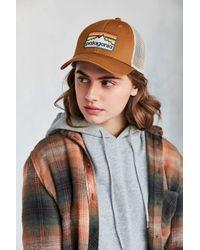 Patagonia | Brown P-6 Logo Trucker Hat | Lyst