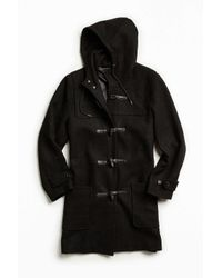 Urban Outfitters | Black Uo Toggle Duffle Coat for Men | Lyst