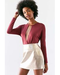 Silence + Noise | Red Mia Plunging Cutout Surplice Top | Lyst