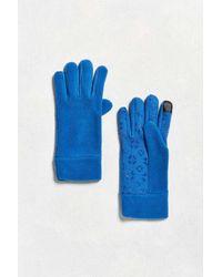 Urban Outfitters | Blue Microfleece Tech Glove | Lyst