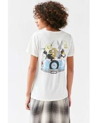 Junk Food White Looney Tunes Road Trippin' Tee