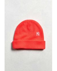 47 Brand   Pink X Uo New York Beanie for Men   Lyst