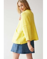 BDG | Yellow Chunky Open Cardigan | Lyst