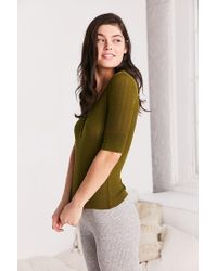 Out From Under - Green Jordan Henley Top - Lyst