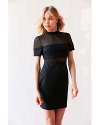 Kimchi Blue | Black Bubble Gum Mesh Ponte Mini Dress | Lyst